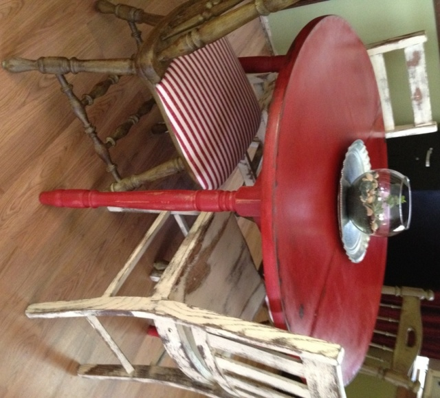 -Rustic-Kitchen-Table 1950s