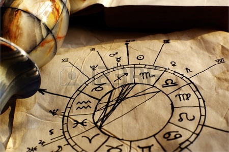 zodiac signs on parchment